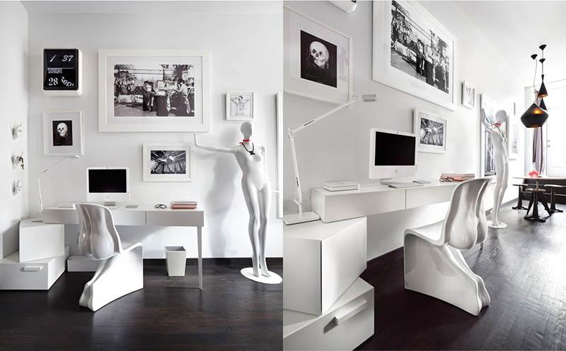 ایده برای طراحی و چیدمان دکوراسیون داخلی دفتر کار